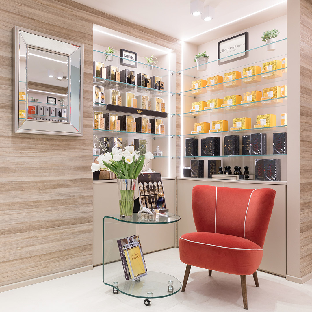 Corporate - Beparfume - Interno della boutique di Como