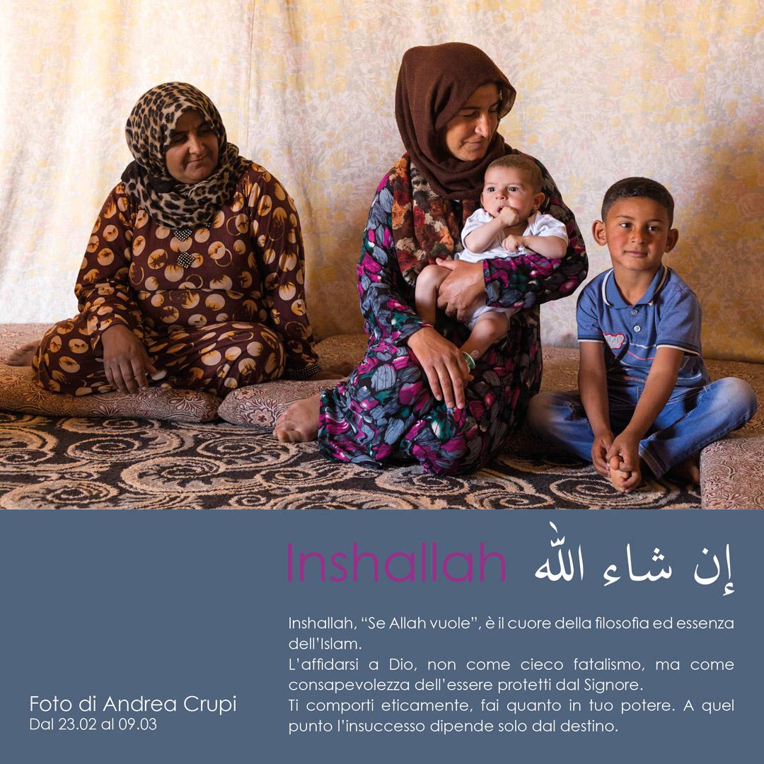 Locandina mostra fotografica Inshallah